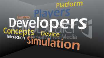 Creative image of gaming concept