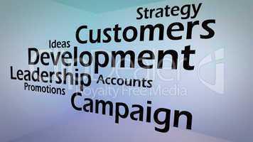 Creative image of business development concept
