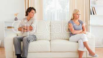 Husband angry at his wife