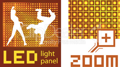 Led diode display panel vector background.