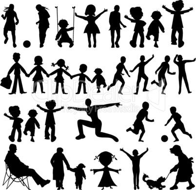 people black silhouettes
