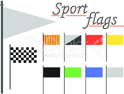sport flags against white
