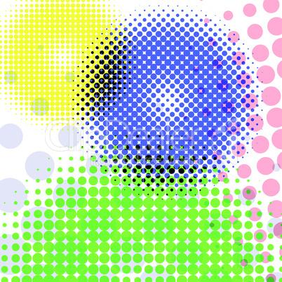 halftone round pattern