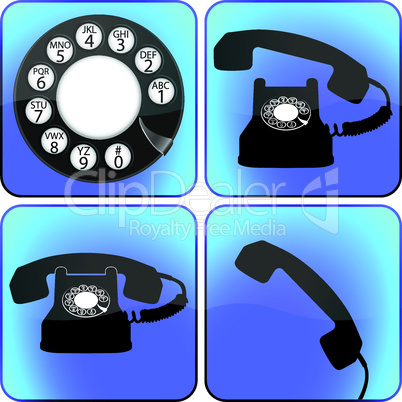 telephone icons collection
