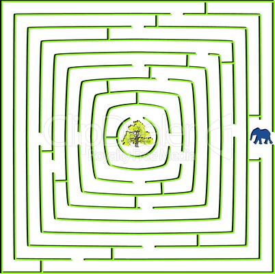 round square maze