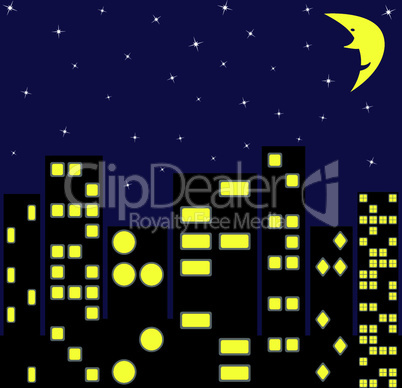 city in night