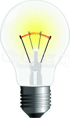light bulb against white