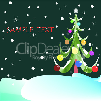 christmas tree with composition