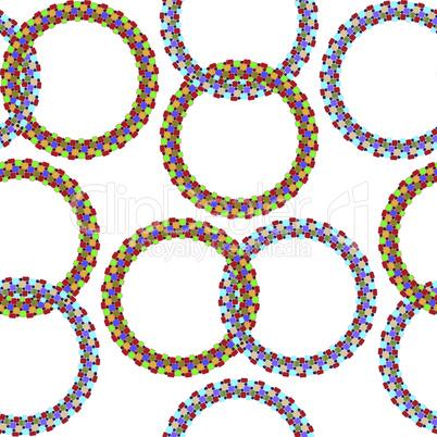 rings seamless pattern
