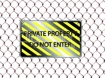 do not enter inscription