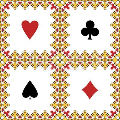 card symbols frame