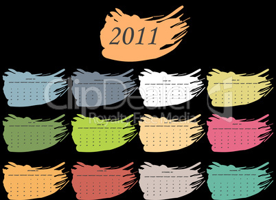 color spot calendar for 2011