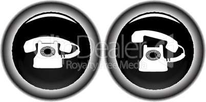 telephone black icons against white