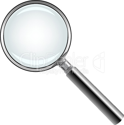 magnifying glass against white
