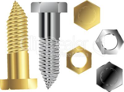 screws against white
