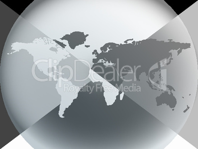 earth globe graphic halo