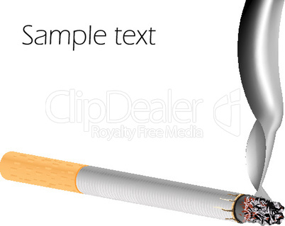 filter cigarette against white background