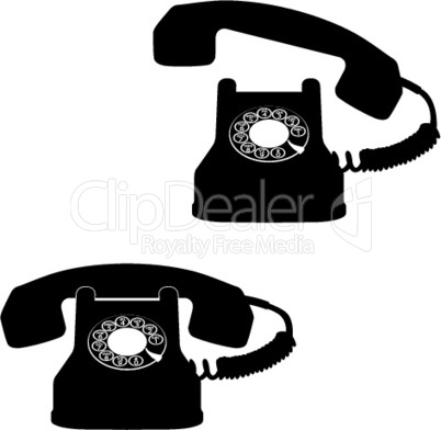 telephone icons against white