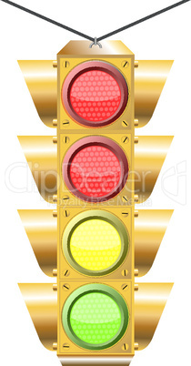 traffic light with four