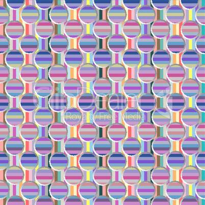 metallic seamless circles and stripes pattern