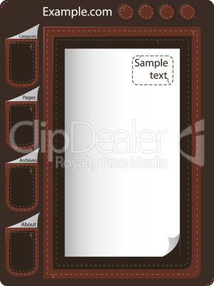 leather website design