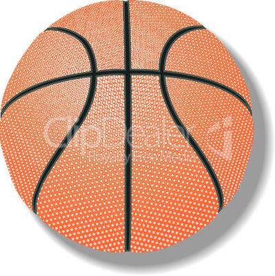 basketball against white