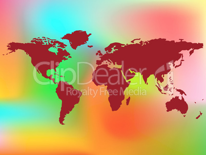 world map and abstract background
