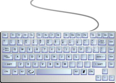 keyboard against white