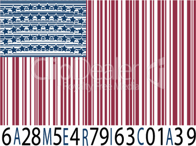 america bar codes flag