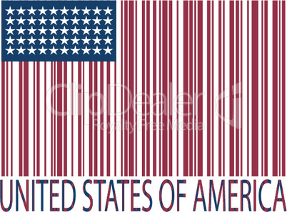 united states bar codes flag