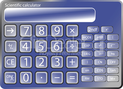 blue calculator against white