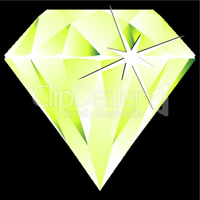 green diamond against black