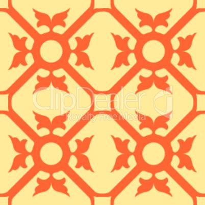 orange flowers seamless texture