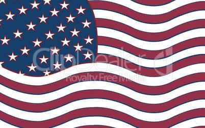 united stated stylized flag