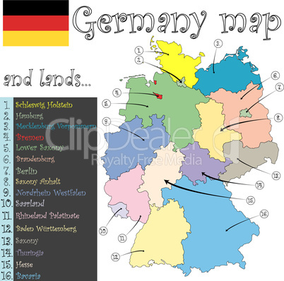 germany map and lands