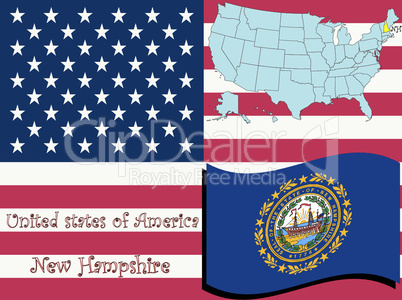 new hampshire state illustration.eps