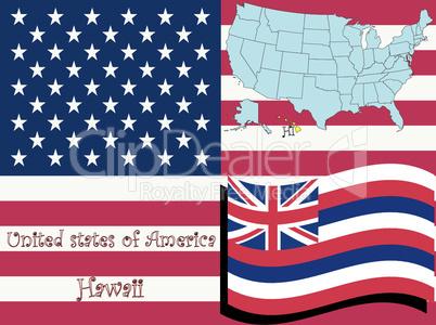 hawaii state illustration