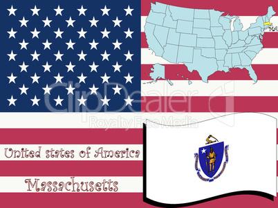 massachusetts state illustration