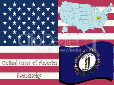 kentucky state illustration