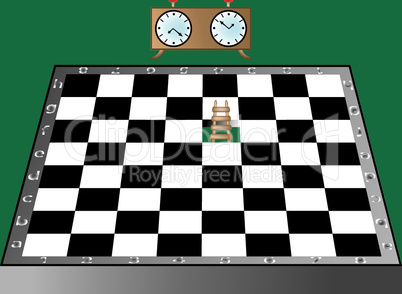 chess, ladder and clock