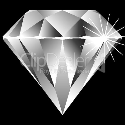 diamond isolated on black