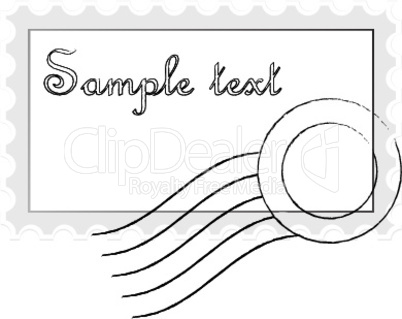 mail stamp isolated on white