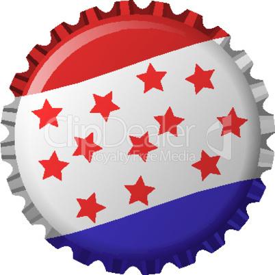 united states flag stylized bottle cap
