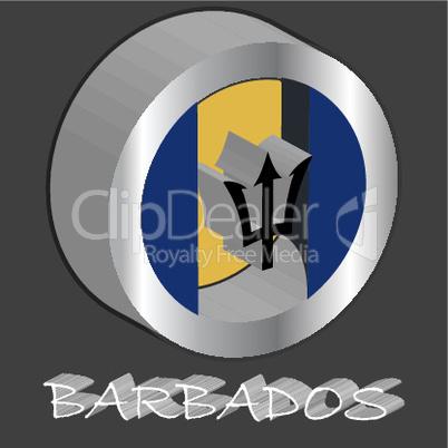 barbados 3d flag
