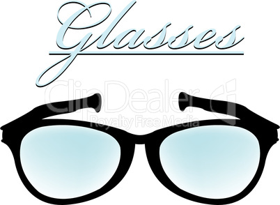 glasses silhouette isolated on white