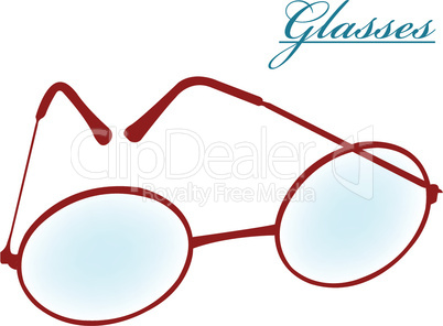 round glasses isolated on white