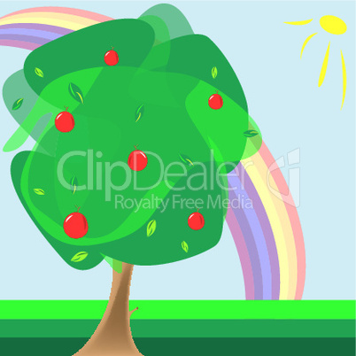 apple tree cartoon