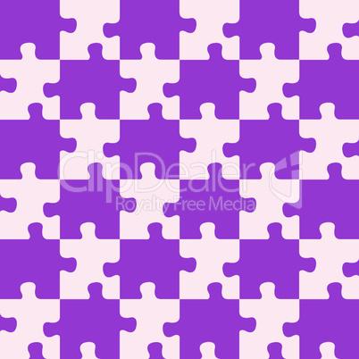 puzzle mixed purple colors