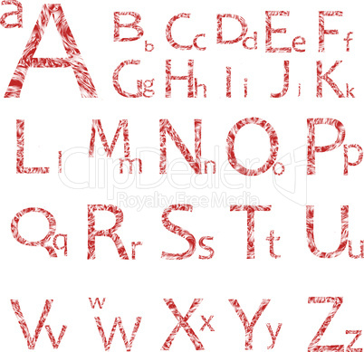 abstract alphabet isolated on white