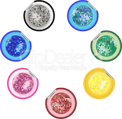 disco ball stickers collection 2